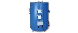 The drum heater ELF-2600-Ex for heating 200 litre standard drums in hazardous areas.