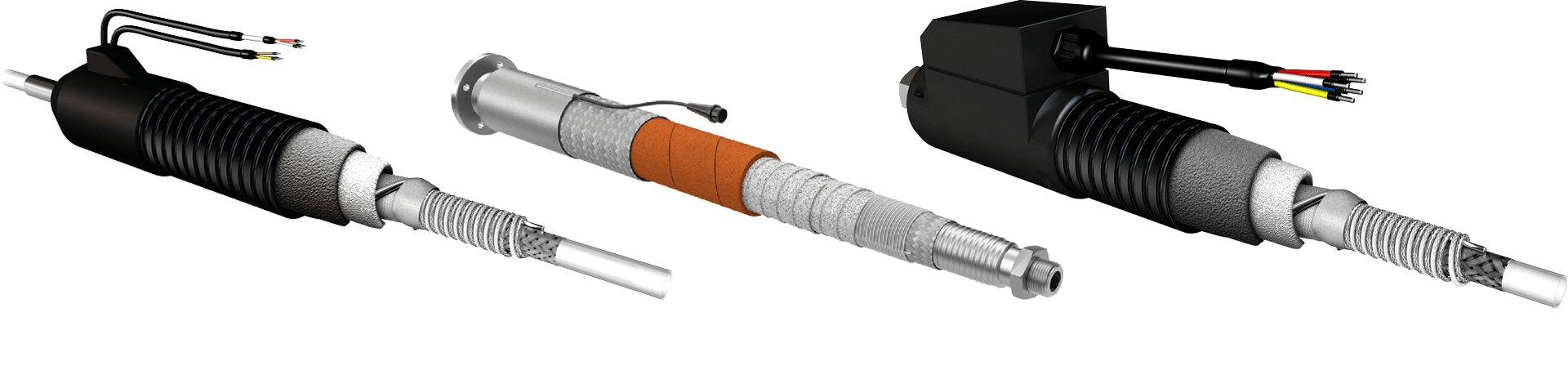 3D rendering of all heated hoses.
