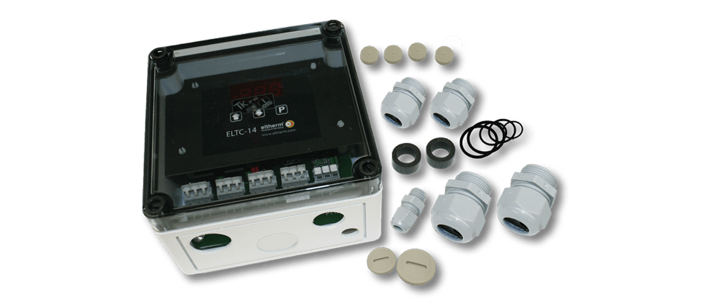 The electronic temperature controler ELTC-14 with digial display.