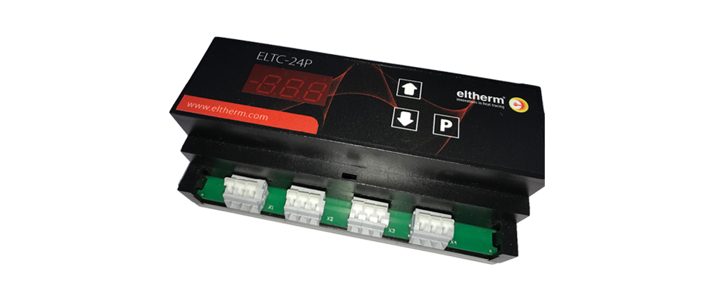 The electronic temperature controller ELTC-24P that automatically adapts proportionally to ambient temperatures.