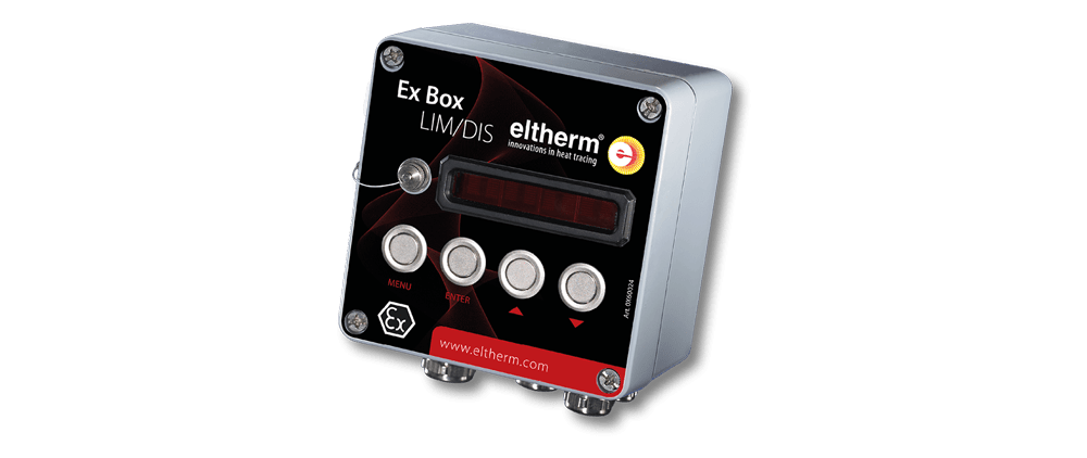 The Ex-Box LIM/DIS is a limiter for switching off heating circuits in case of excess temperature or current overload.